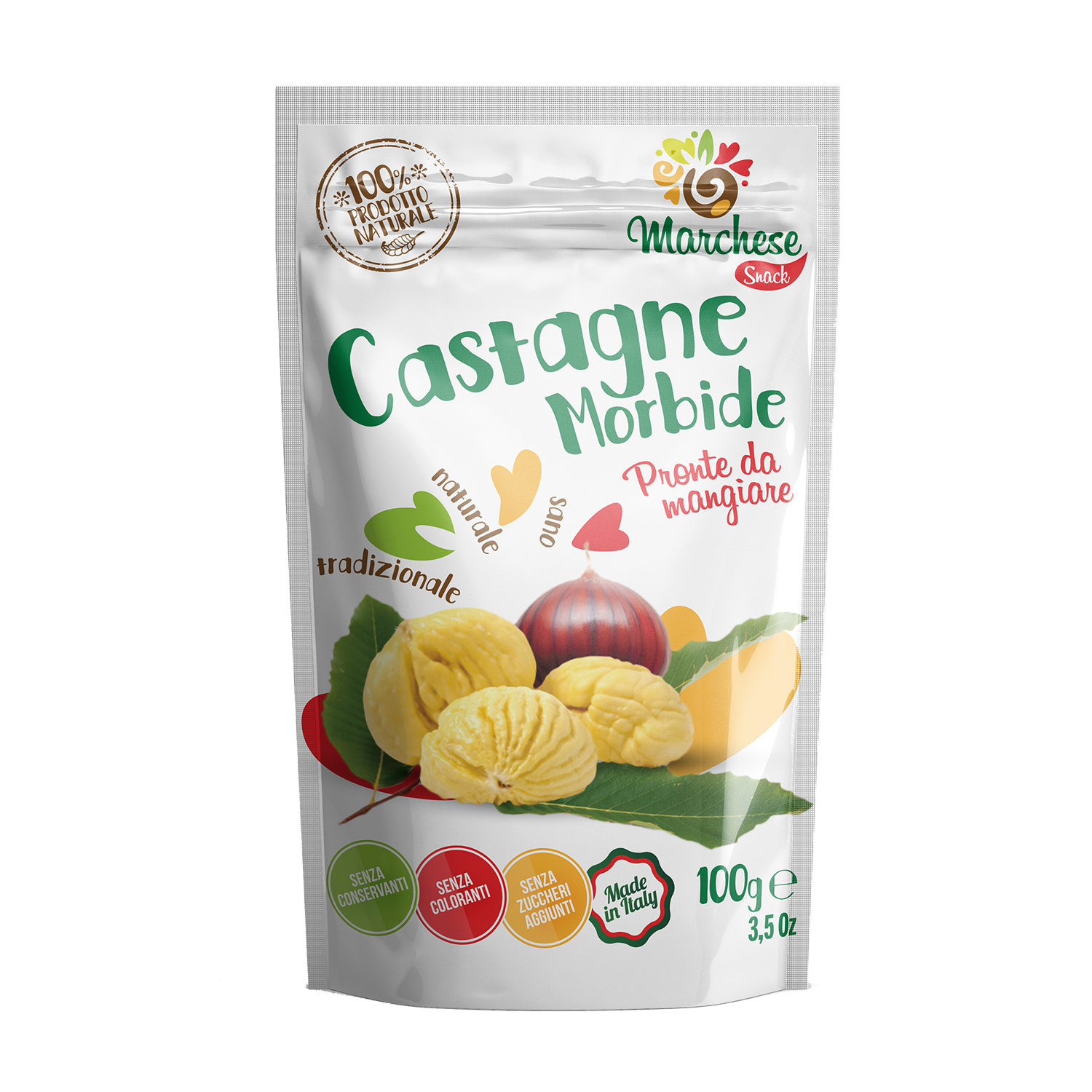 In arrivo le nuove CASTAGNE SNACK MARCHESE