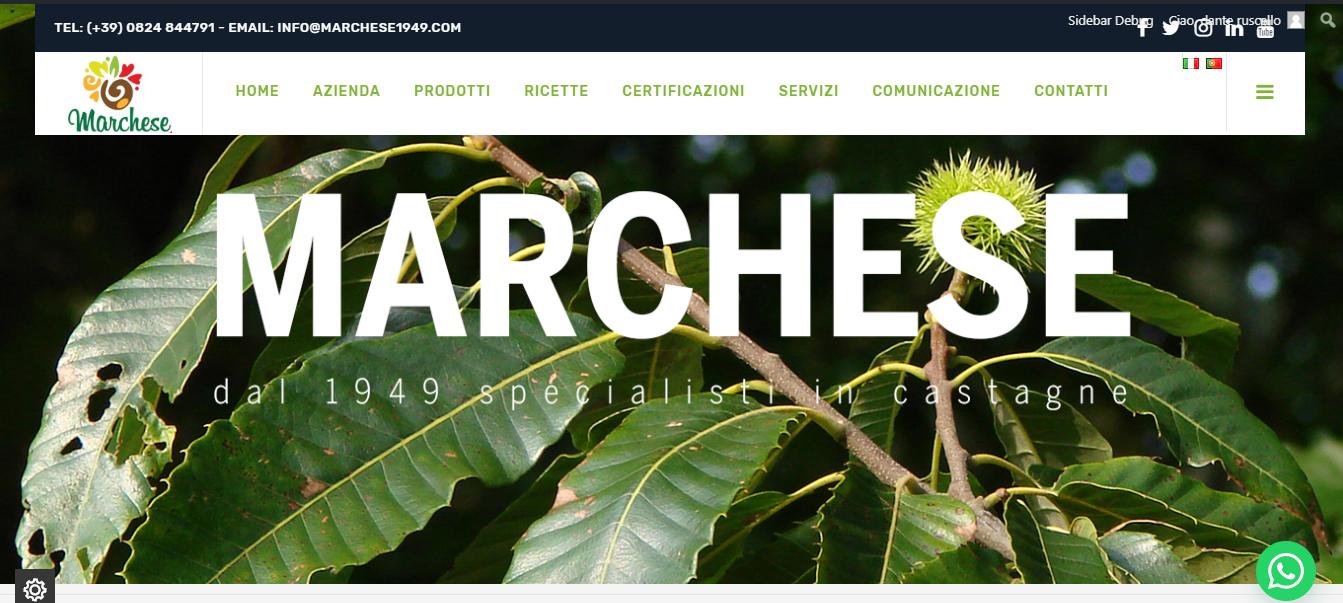 Online il nuovo sito Marchese Castagne